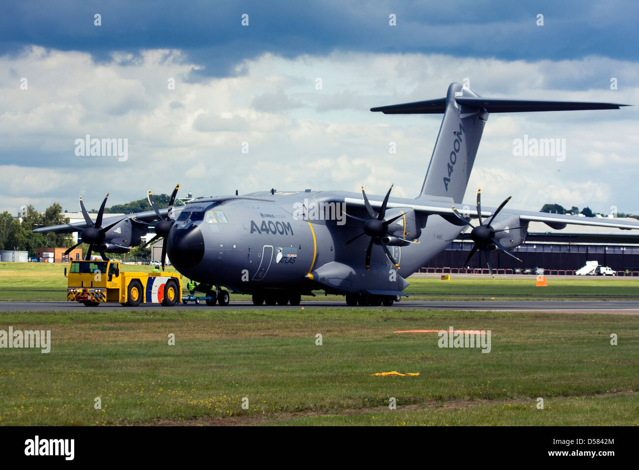 Airbus A400M Atlas military transport aircraft. - Stock Image