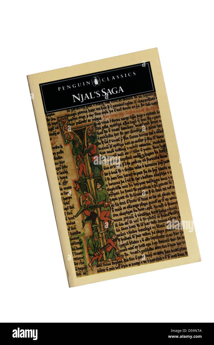 The Penguin Classics paperback edition of Njal's Saga - Stock Image