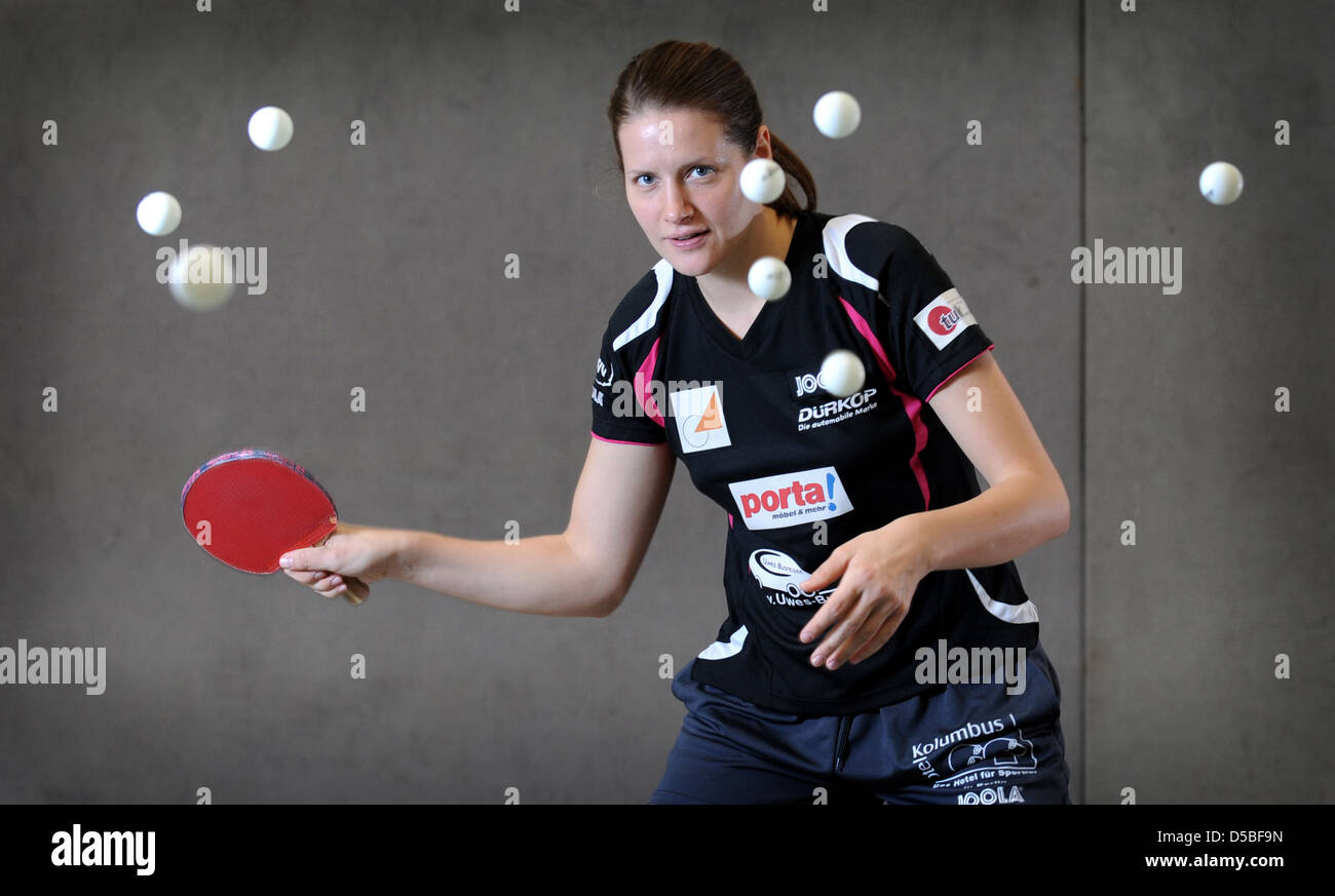 Berlin, Germany, table tennis player Irene Ivancan - Stock Image
