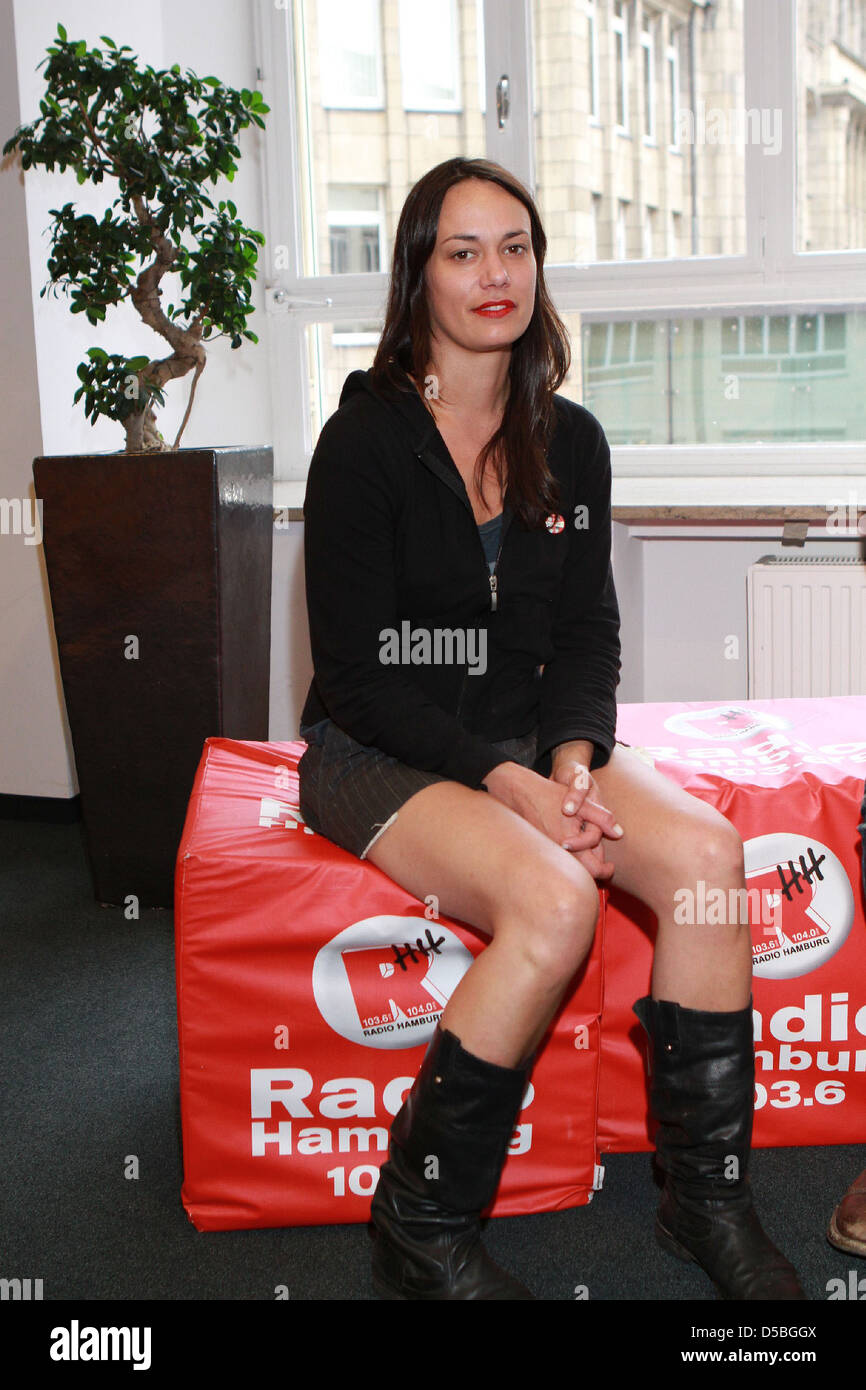 Tanya Buziak of Wakey!Wakey! during a promotional visit to radio station Radio Hamburg. Hamburg, Germany - 15.07.2011 Stock Photo