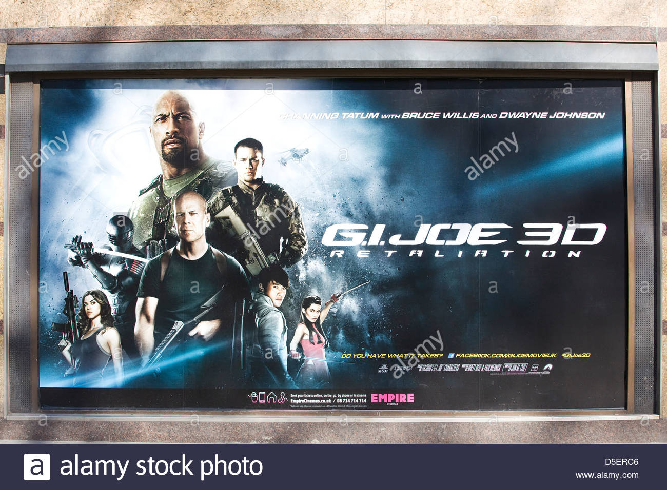 Movie poster advertising the film G.I. Joe Retaliation - Stock Image