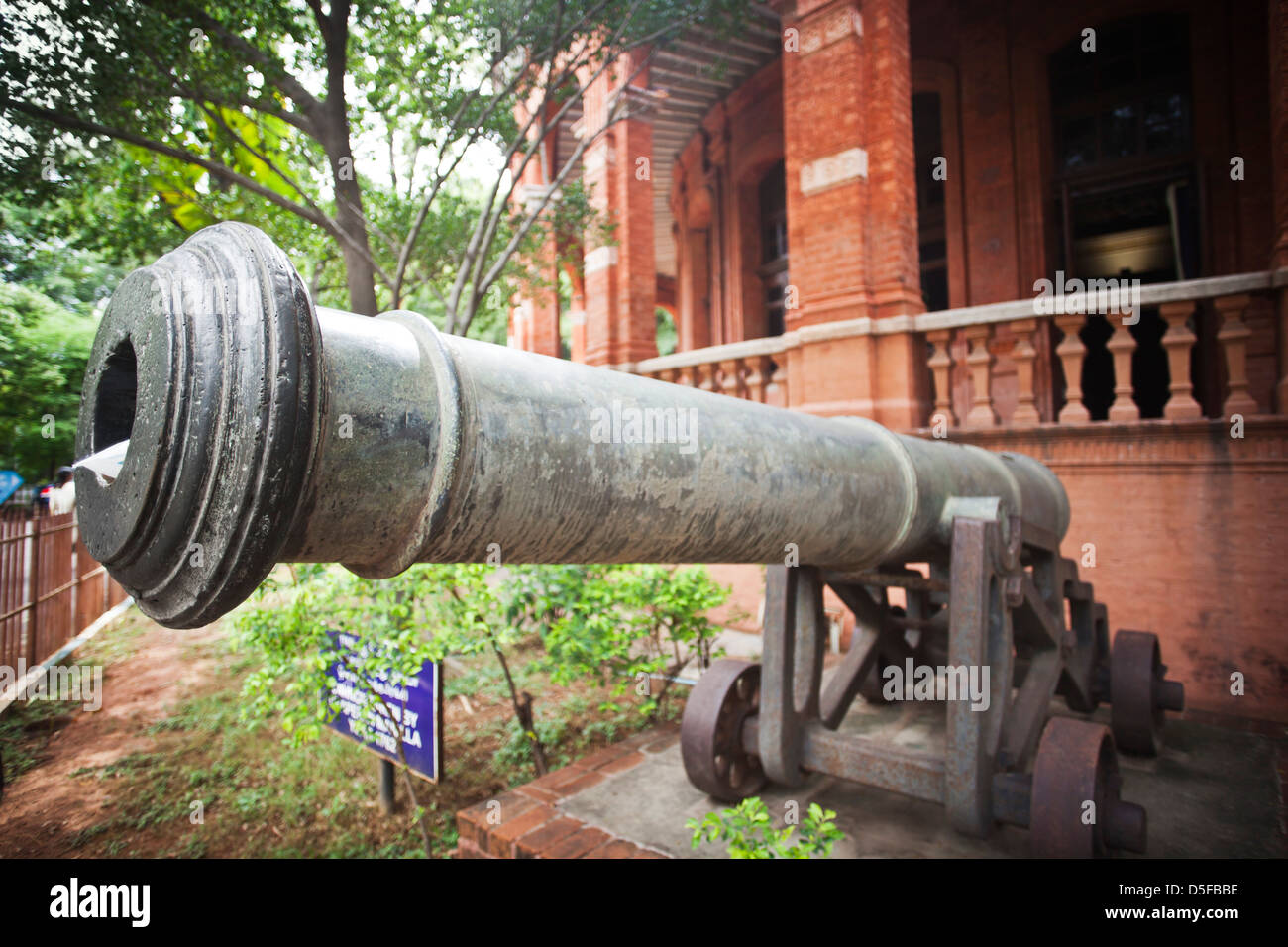 Cannon at Fort Museum, Fort St. George, Chennai, Tamil Nadu, India - Stock Image