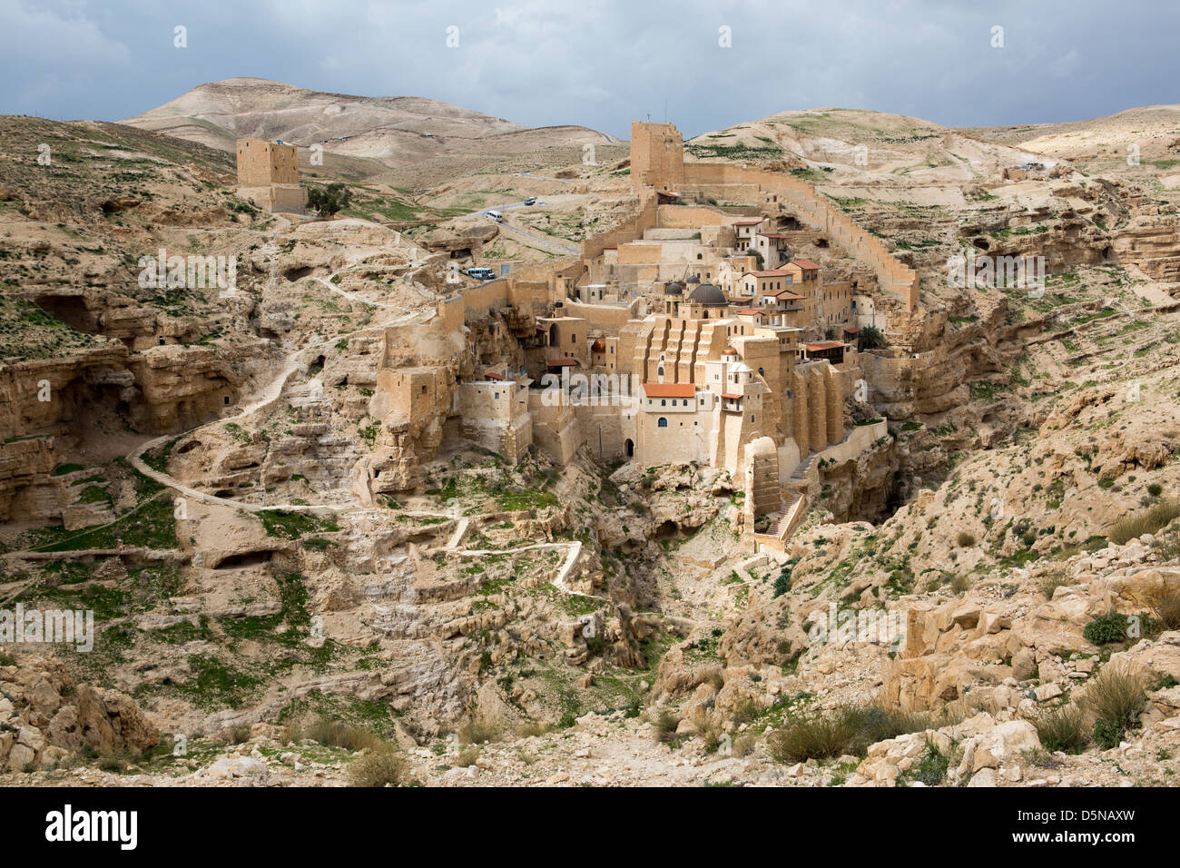 Marsaba monastery in the Judean desert in Israel - Stock Image