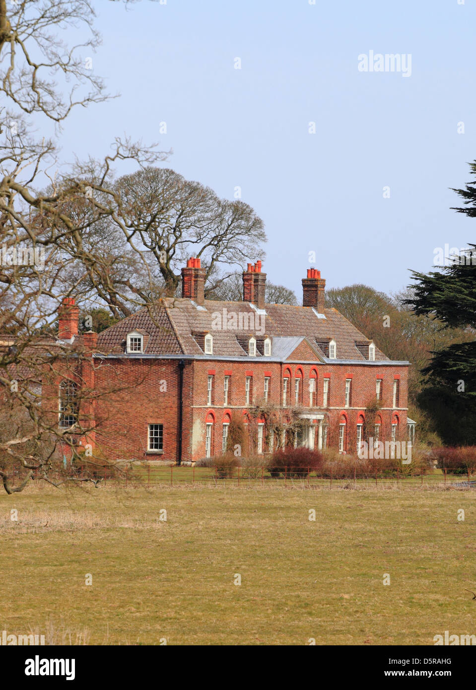 Anmer Hall, at Anmer in Norfolk on the Sandringham estate. Stock Photo