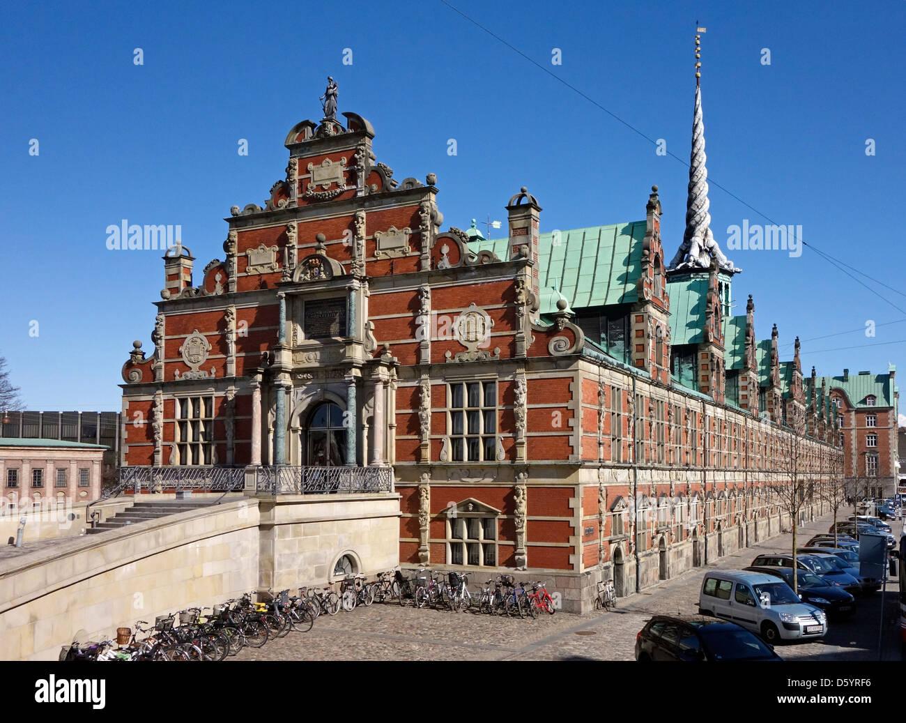 Former Børsen (The Stock Exchange) on Slotsholmen in central Copenhagen Denmark. - Stock Image