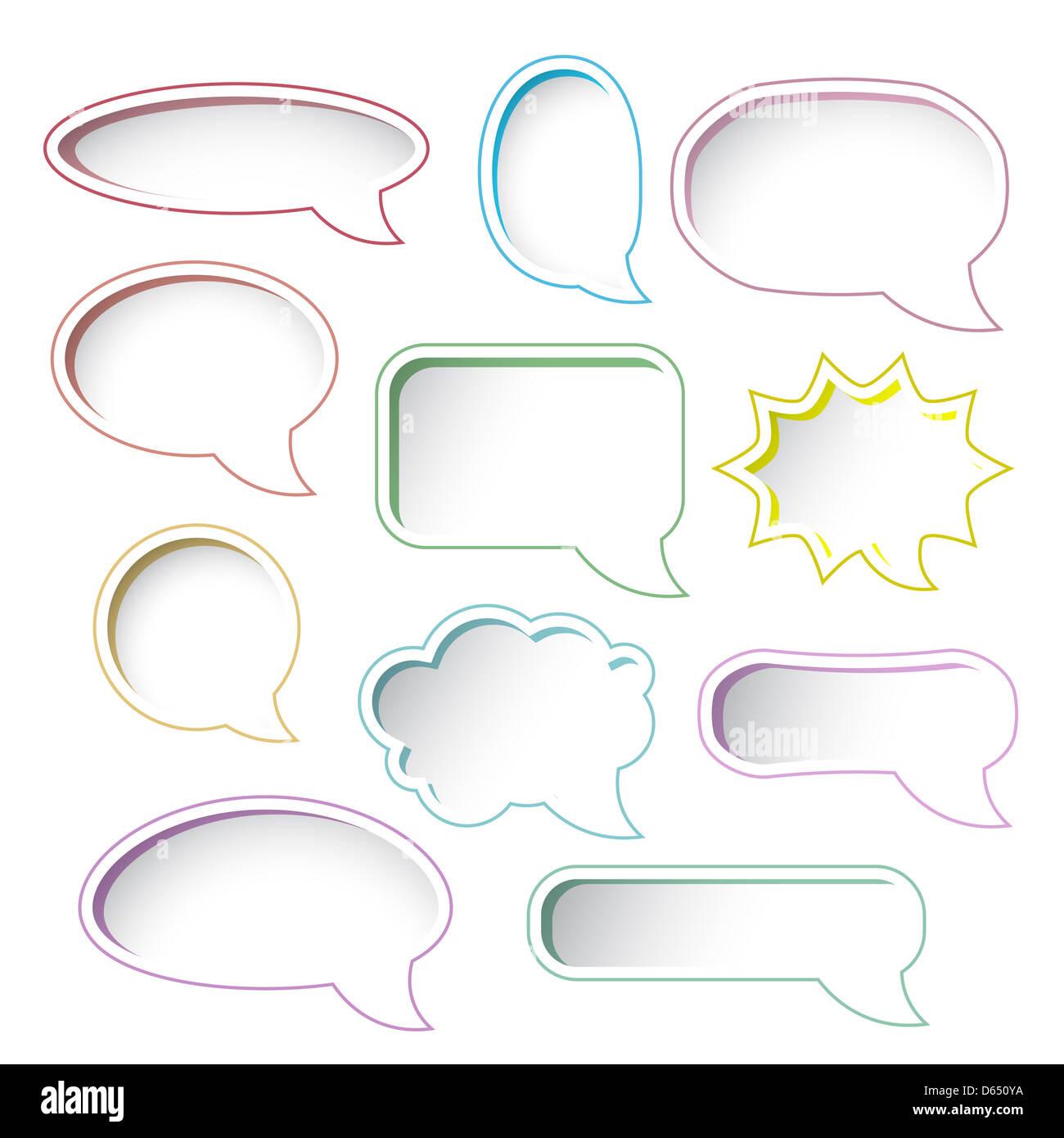 colorful speech bubble frames stock photo 55429566 alamy