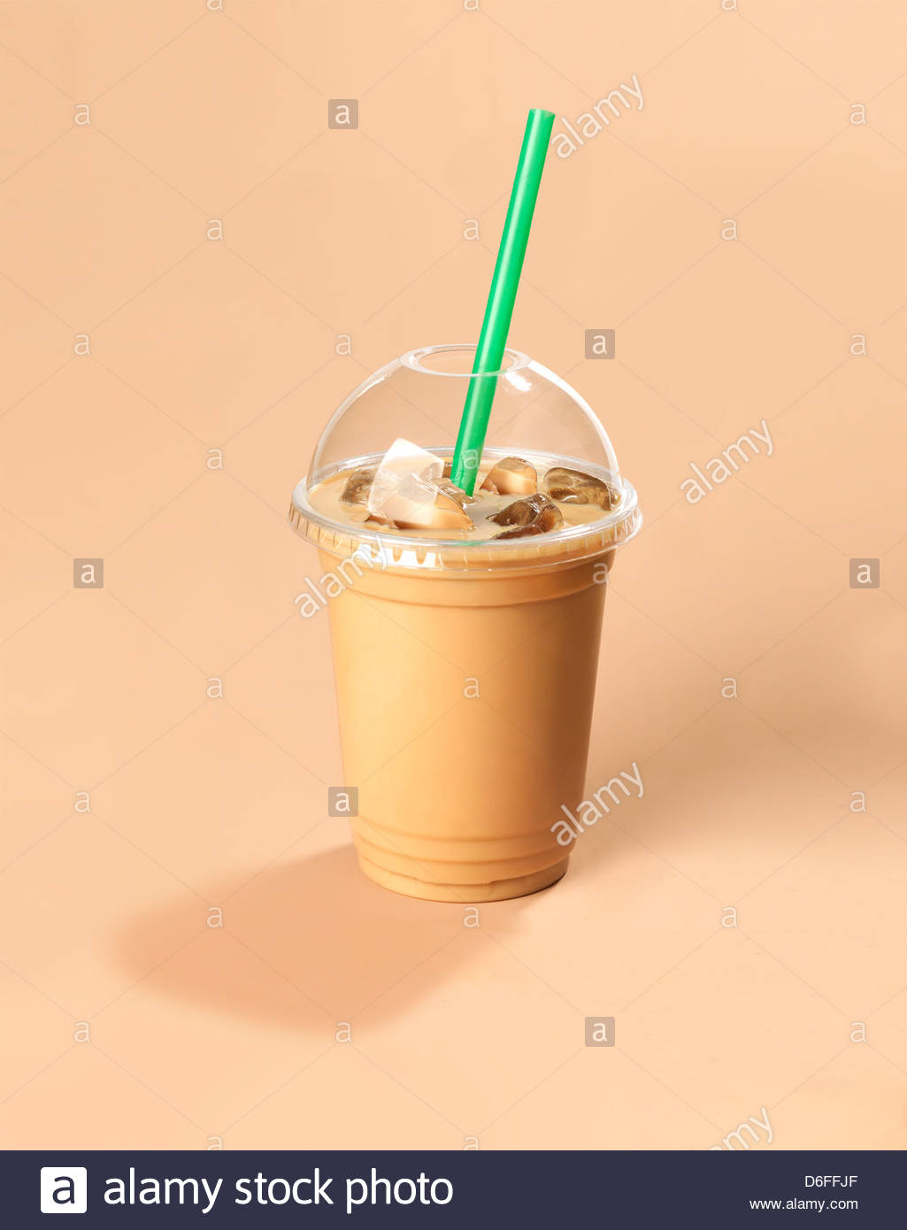 Iced Coffee drink - Stock Image
