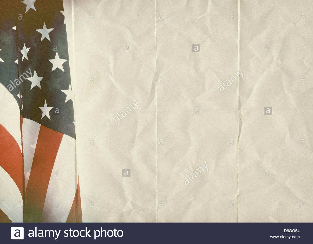 usa flag folded paper background texture - Stock Image