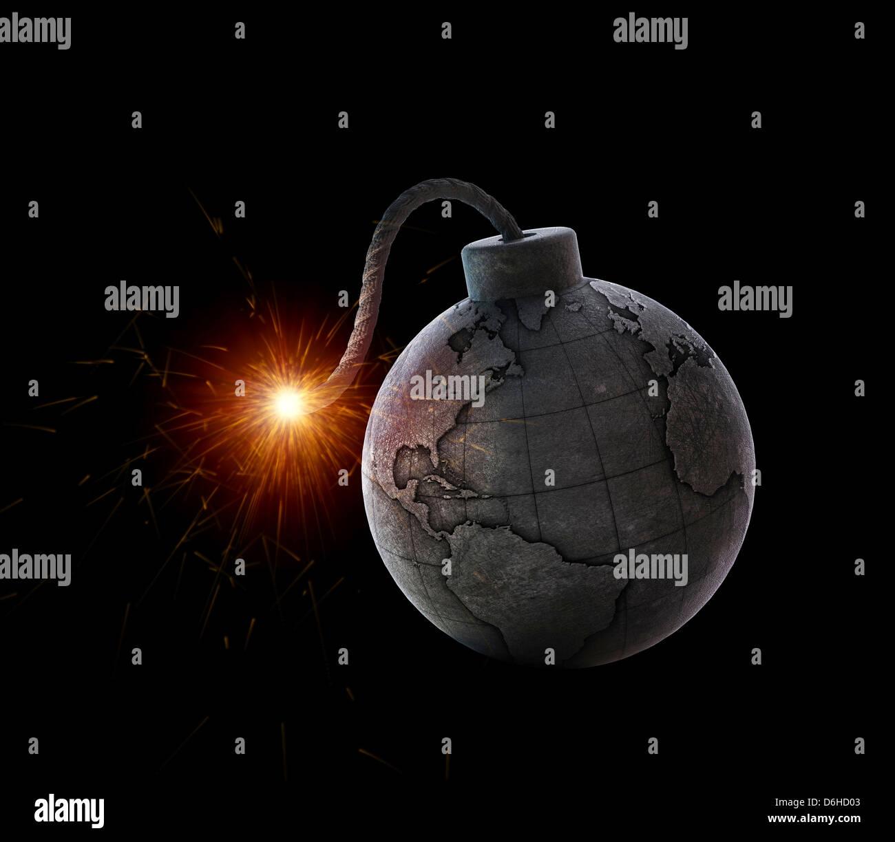 International crisis, conceptual artwork - Stock Image