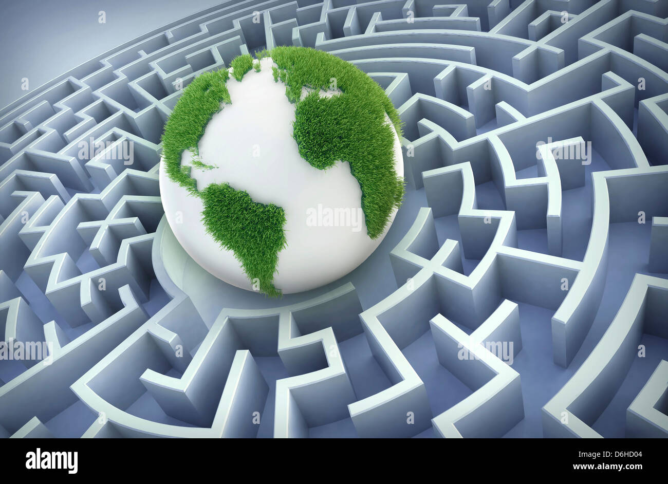 International cooperation, artwork - Stock Image