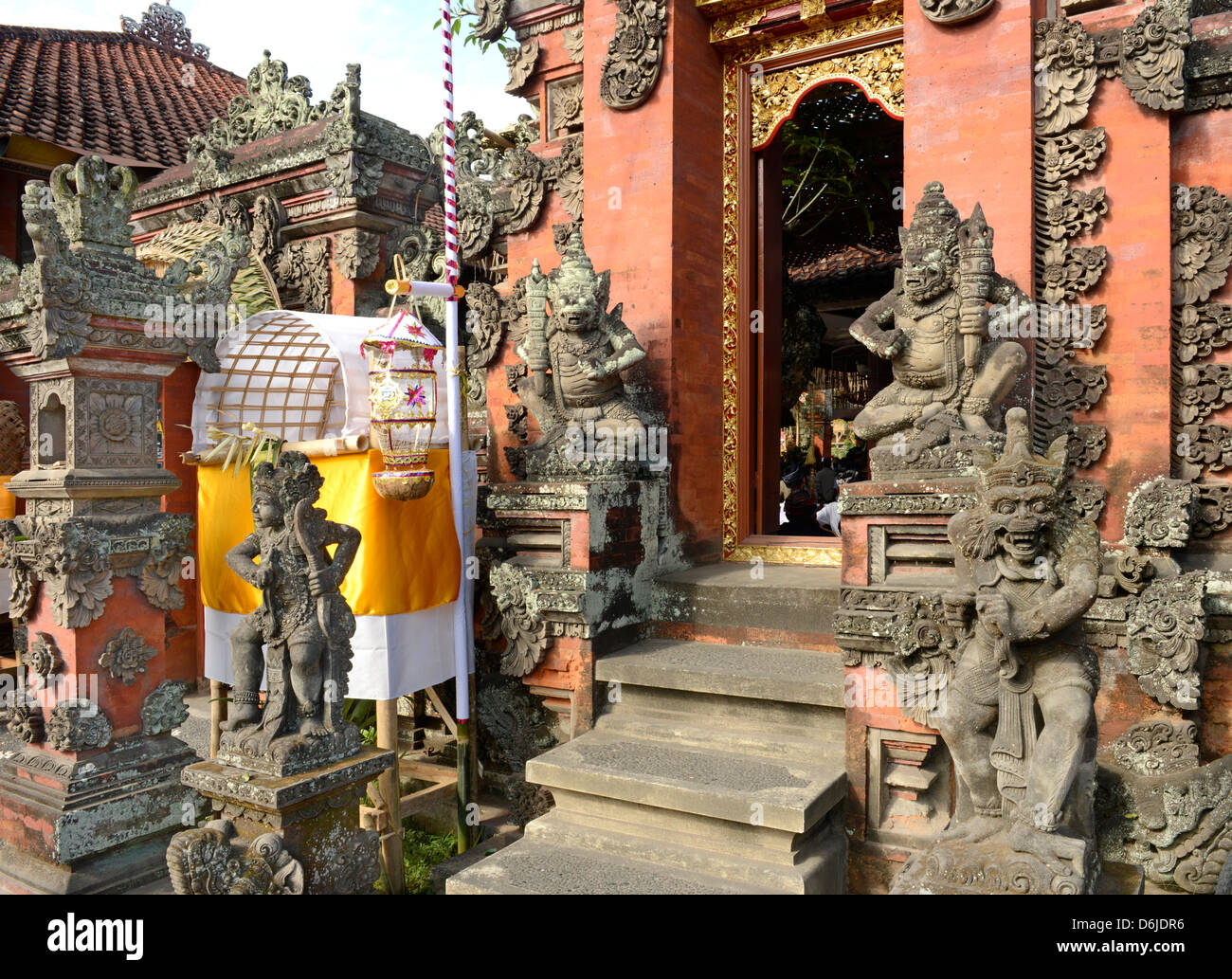 Gate of a wealthy Balinese household, Ubud, Bali, Indonesia, Southeast Asia, Asia - Stock Image