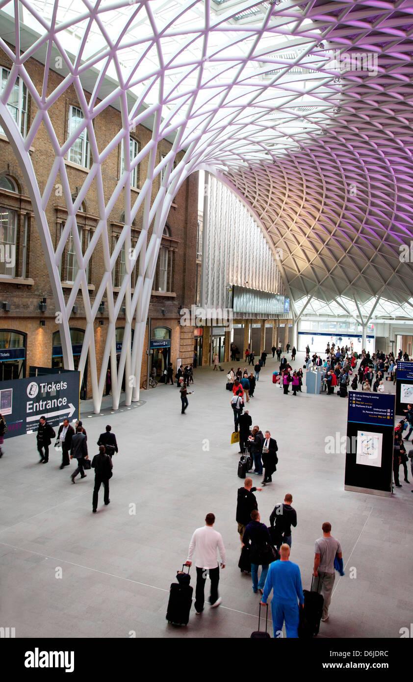 Kings Cross Underground and Rail Station, London, England, United Kingdom, Europe - Stock Image