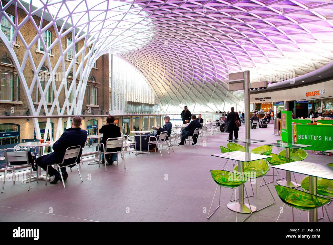 Kings Cross Rail Station, London, England, United Kingdom, Europe - Stock Image