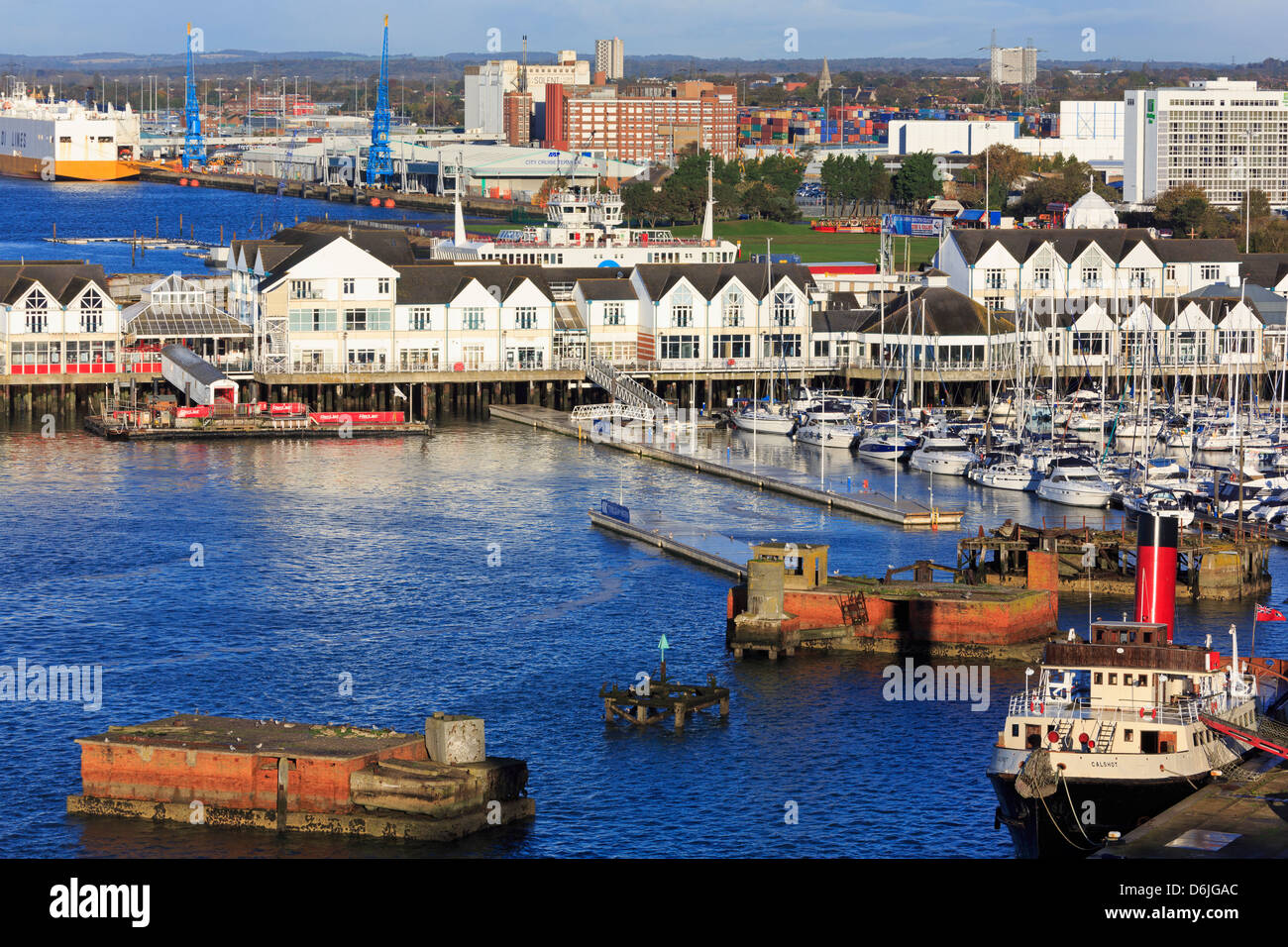 Town Quay in Southampton Port, Hampshire, England, United Kingdom, Europe - Stock Image