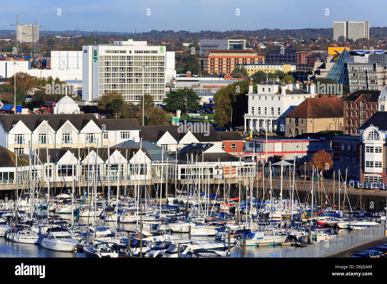 Town Quay and yacht marina, Southampton, Hampshire, England, United Kingdom, Europe - Stock Image