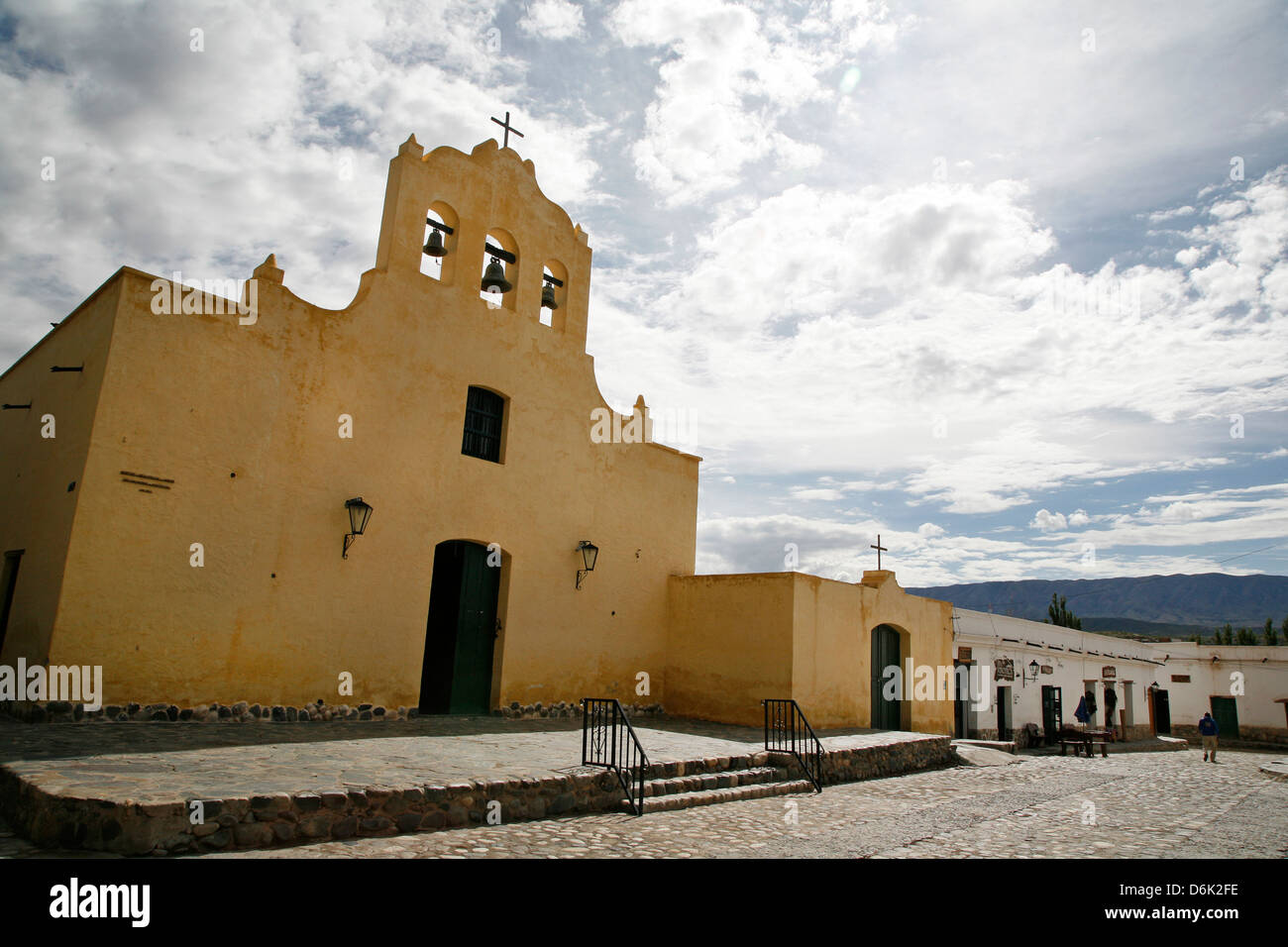 San Jose de Cachi church located at the main square in Cachi, Salta Province, Argentina, South America - Stock Image