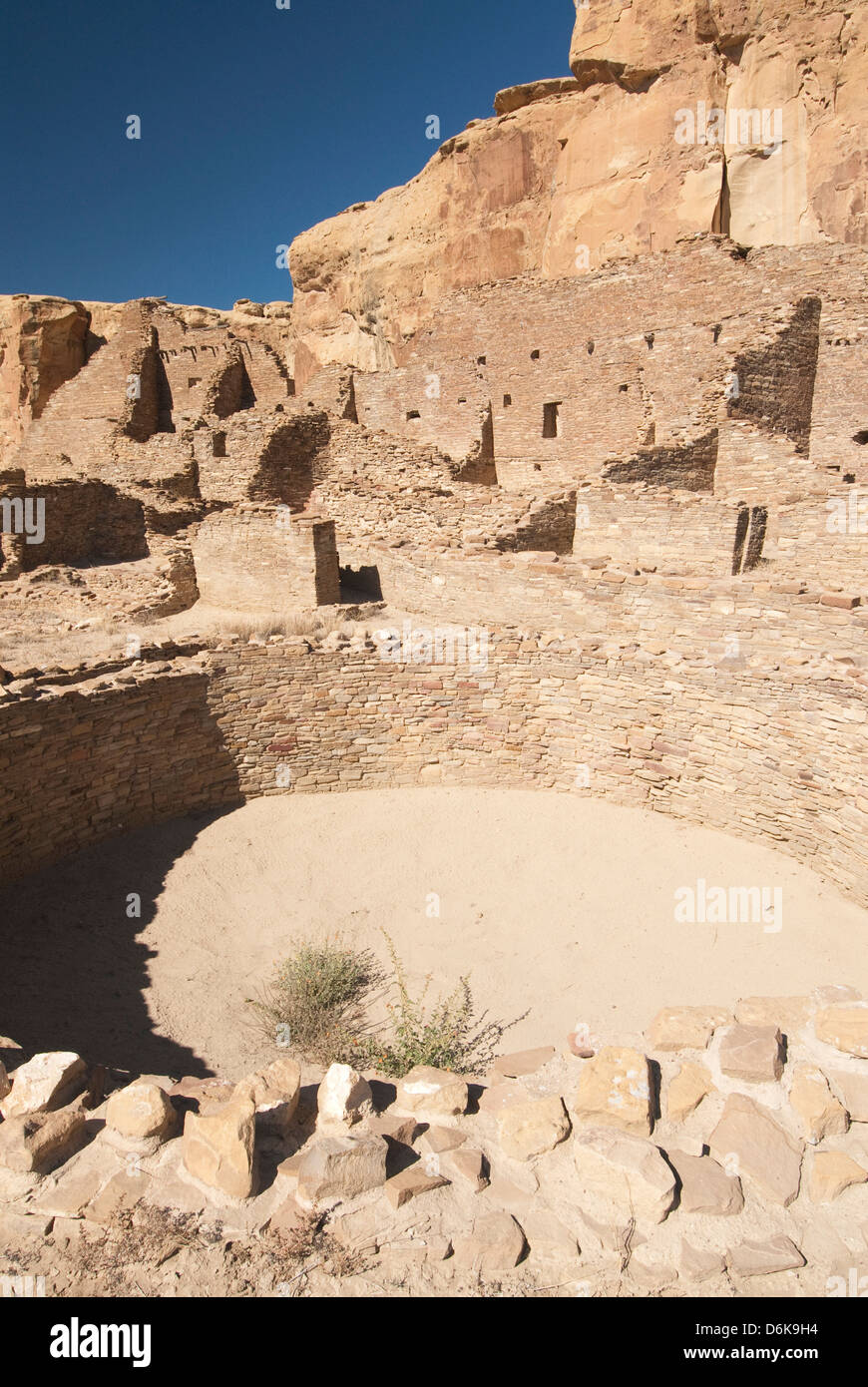 Chaco Culture National Historical Park, UNESCO World Heritage Site, New Mexico, United States of America, North - Stock Image