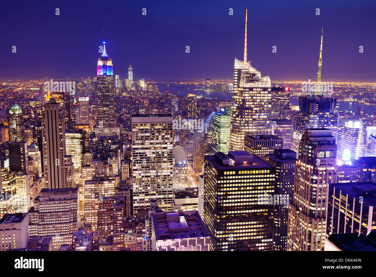 New York City viewed from above. - Stock Image