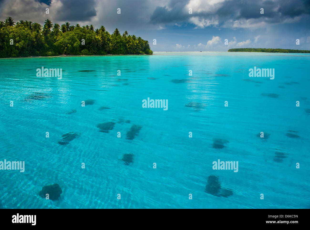 Beautiful turquoise water in the Ant Atoll, Pohnpei, Micronesia, Pacific - Stock Image