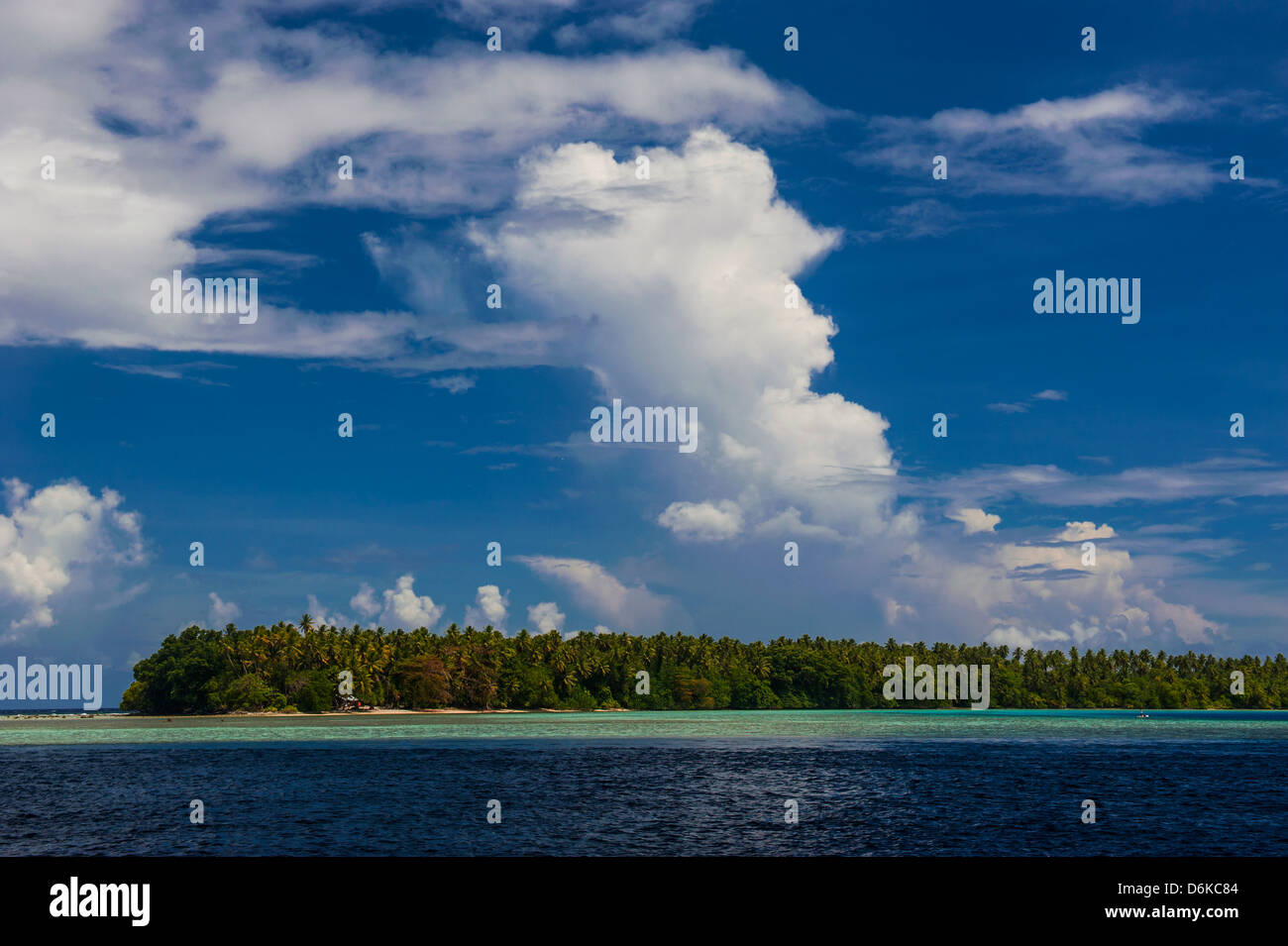 Little islet in the Ant Atoll, Pohnpei, Micronesia, Pacific - Stock Image