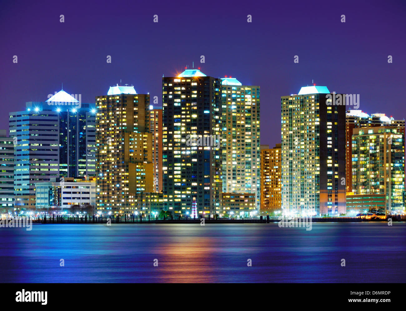 Office buildings in Exchange Place, Jersey City, New Jersey - Stock Image