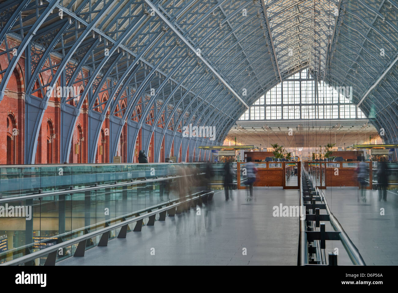 St. Pancras International railway station, London, England, United Kingdom, Europe - Stock Image