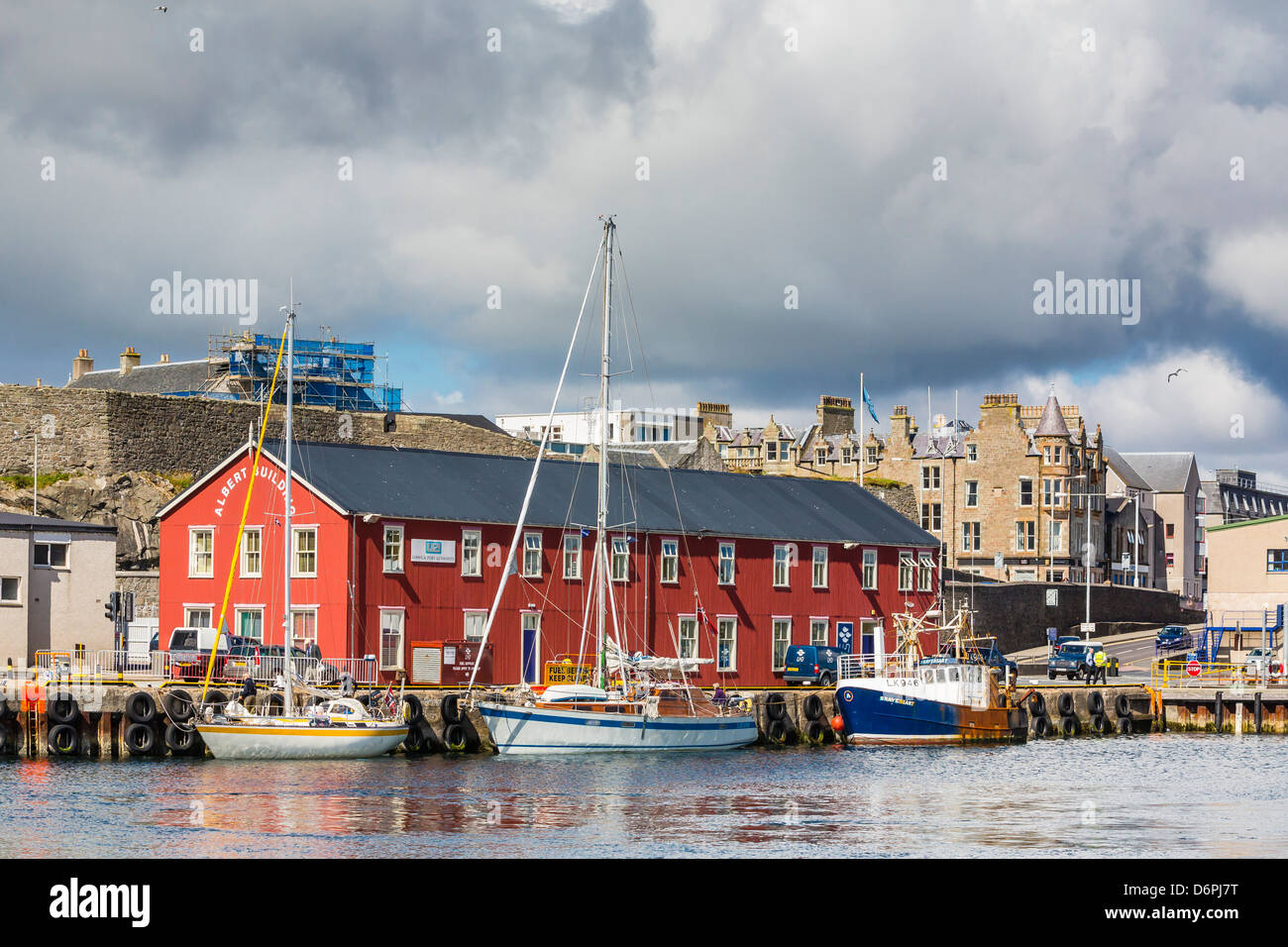 Views of the port city of Lerwick, Shetland Islands, Scotland, United Kingdom, Europe - Stock Image