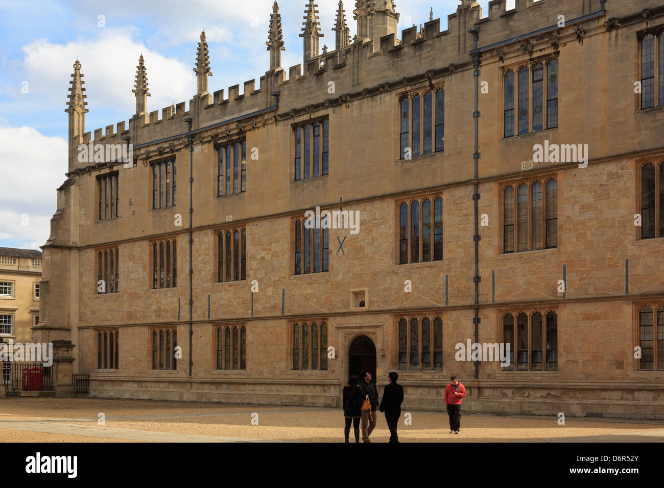 Old Bodleian Library building is part of the university. Oxford, Oxfordshire, England, UK, Britain - Stock Image