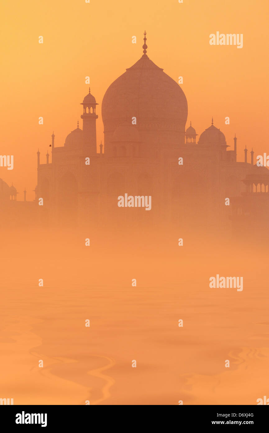 Skyline of Taj Mahal, Agra, Uttar Pradesh, India, UNESCO - Stock Image