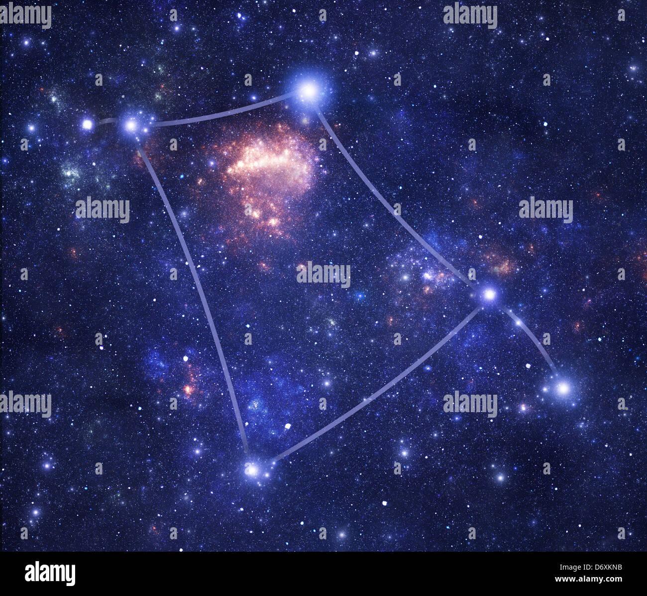 Constellation Corvus (Crv), one of the modern constellations - Stock Image