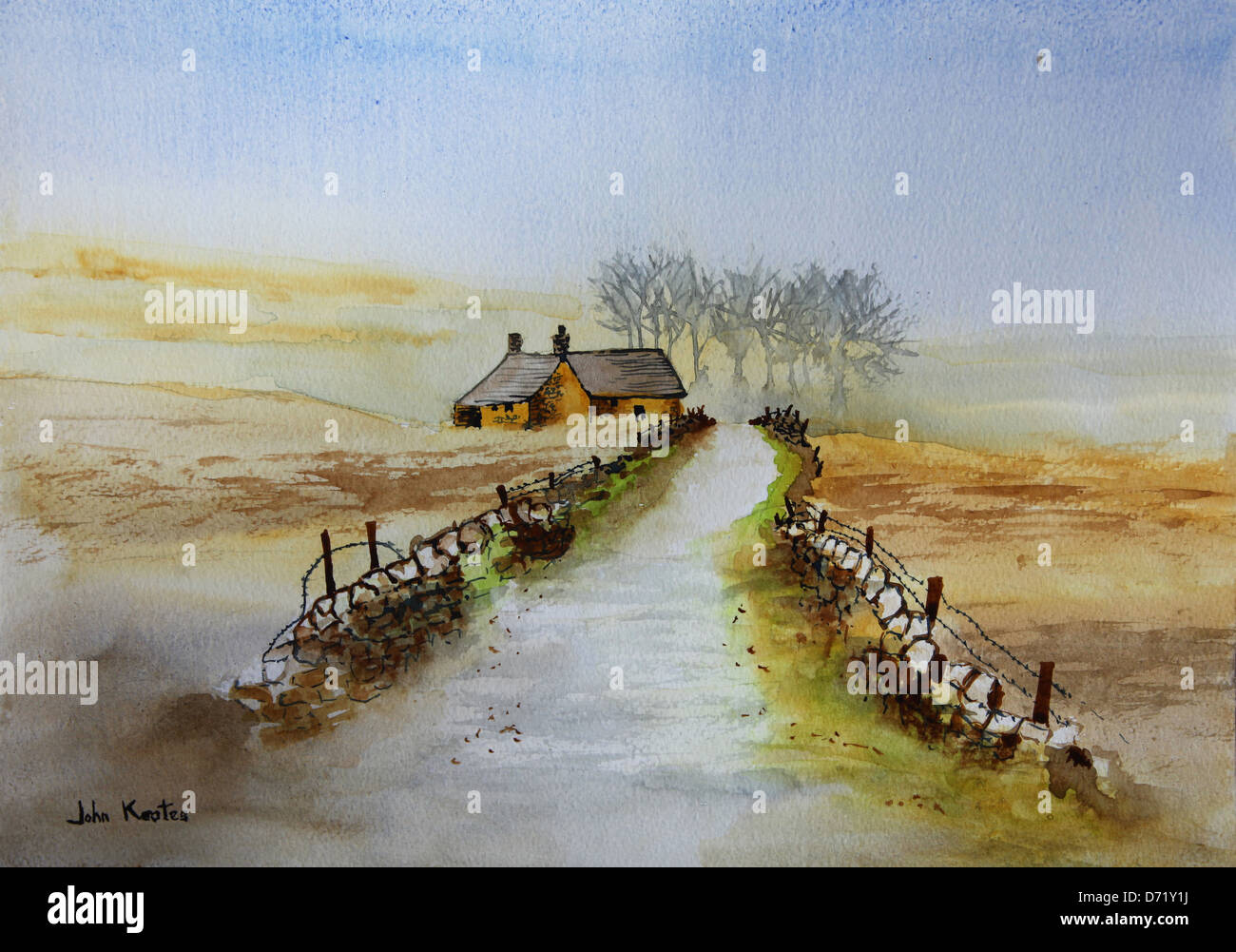 original-watercolour-landscape-painting-by-the-artist-john-keates-D71Y1J.jpg