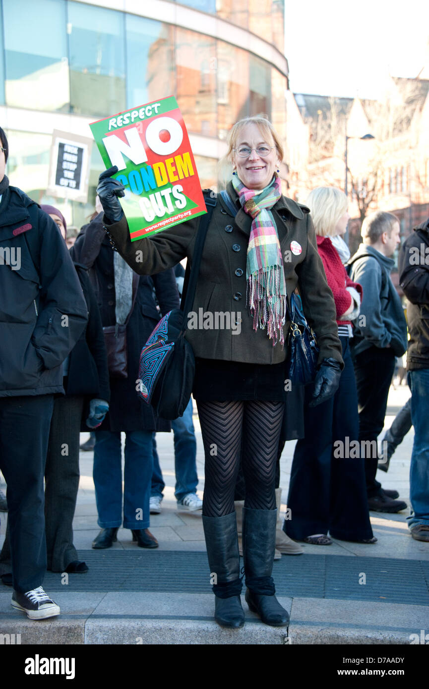 Education Funding Cuts Protester UK - Stock Image