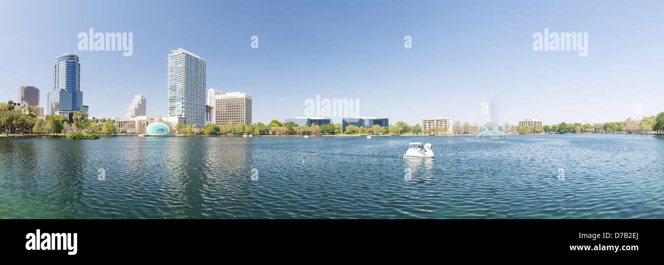 Lake Eola, Downtown Orlando, Florida, USA, - Stock Image
