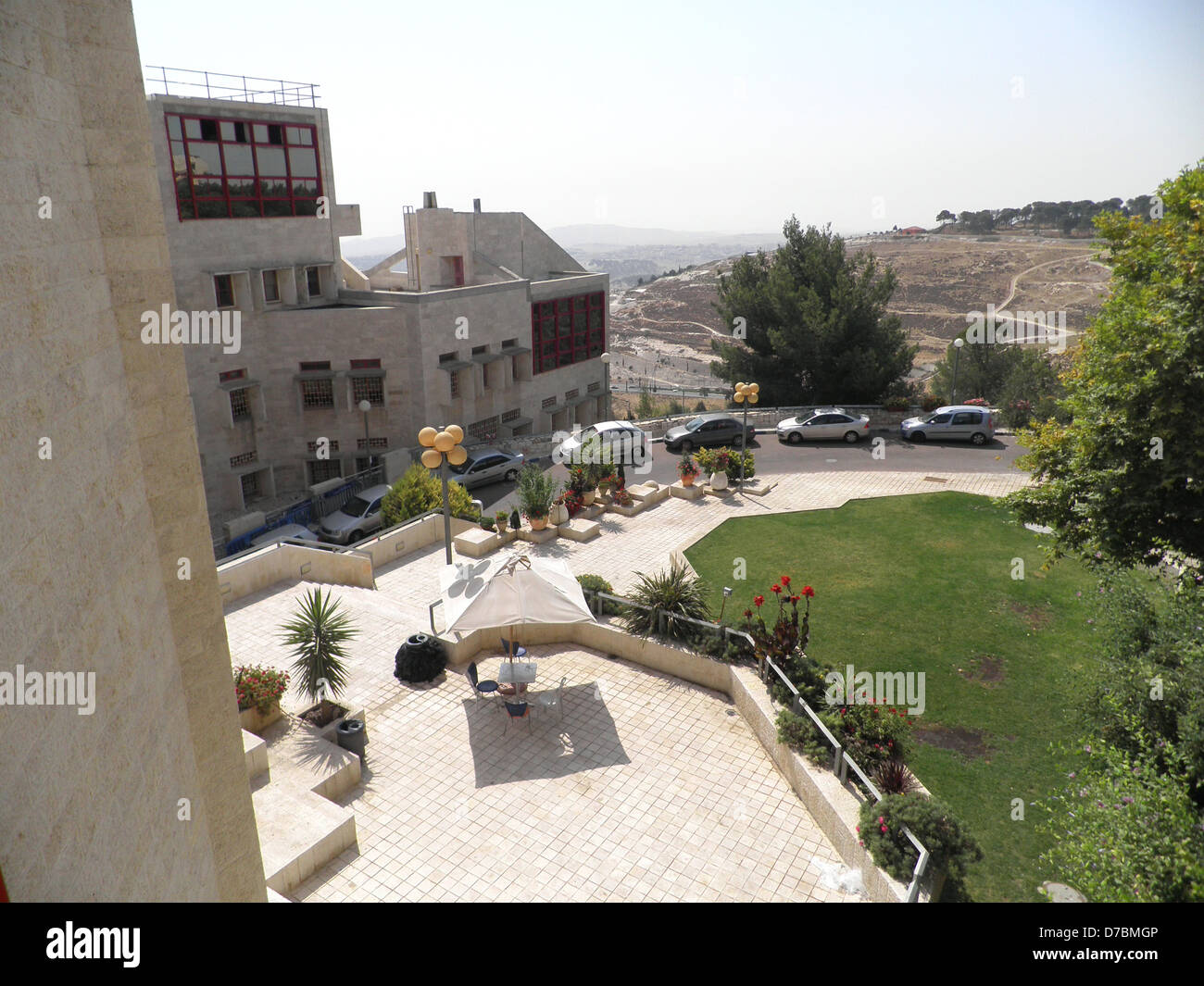 View from the Bezalel Academy of Arts and Design, Jerusalem - Stock Image