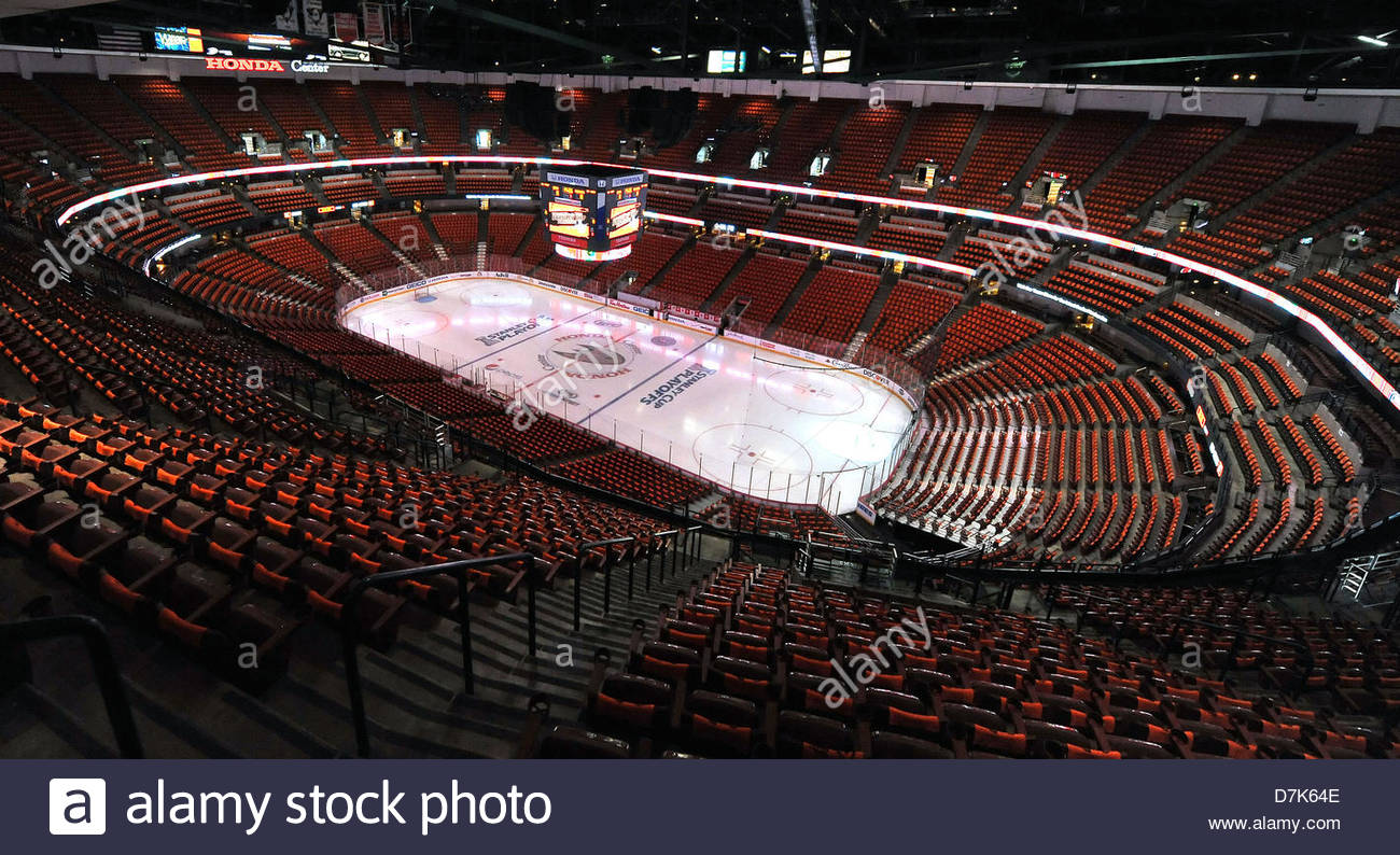 Anaheim, California, USA. 8th May 2013. The Honda Center Home Of The Anaheim  Ducks Before The NHL Western Conference Quarter Finals Playoff, ...