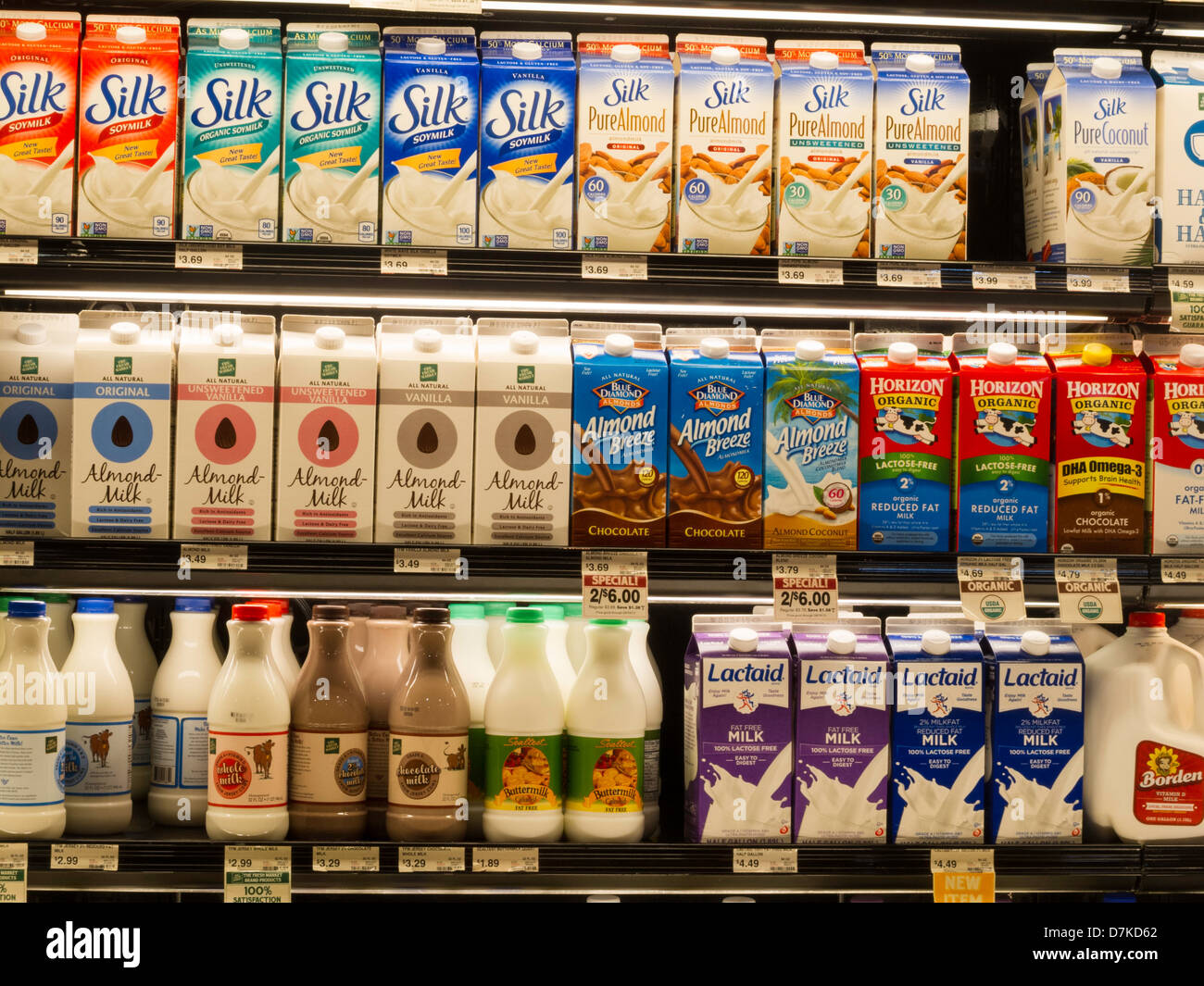 Grocery Store Dairy Aisle