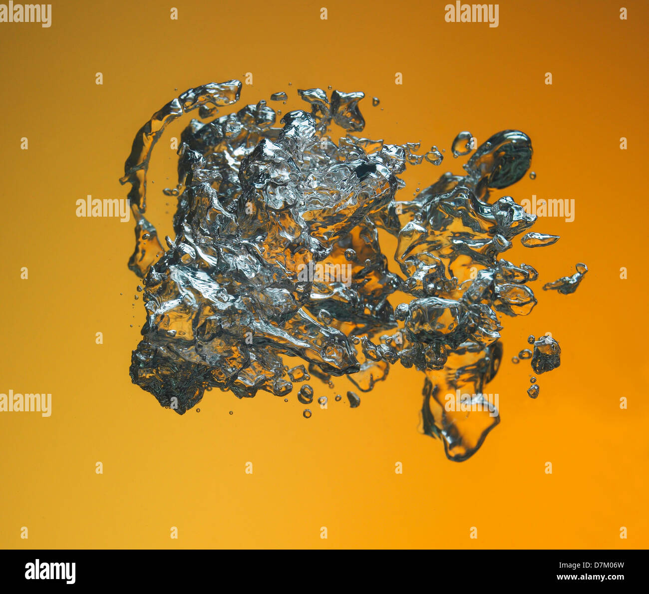 Water Spashes and bubbles - Stock Image