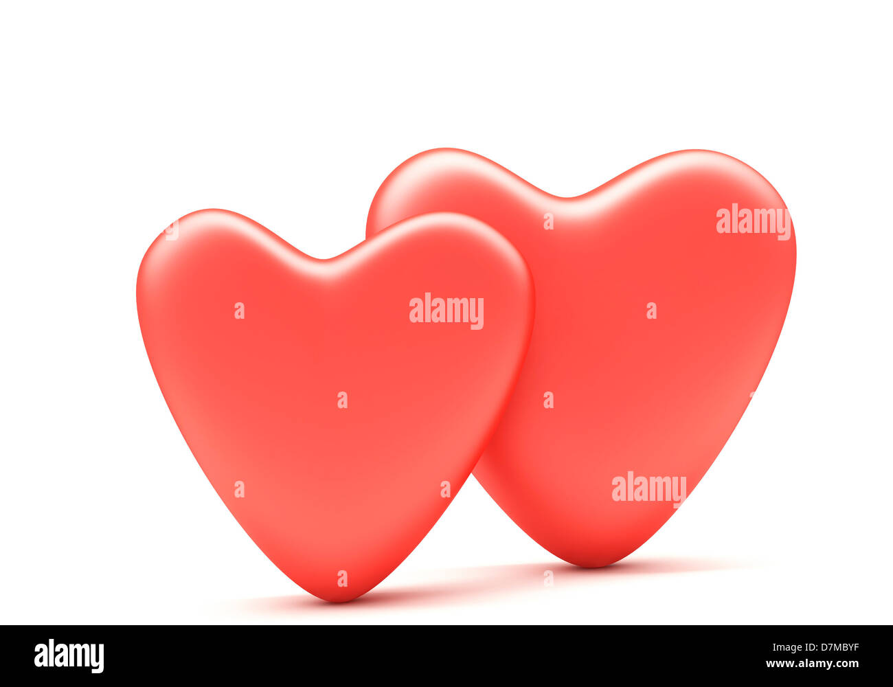 Red hearts artwork - Stock Image