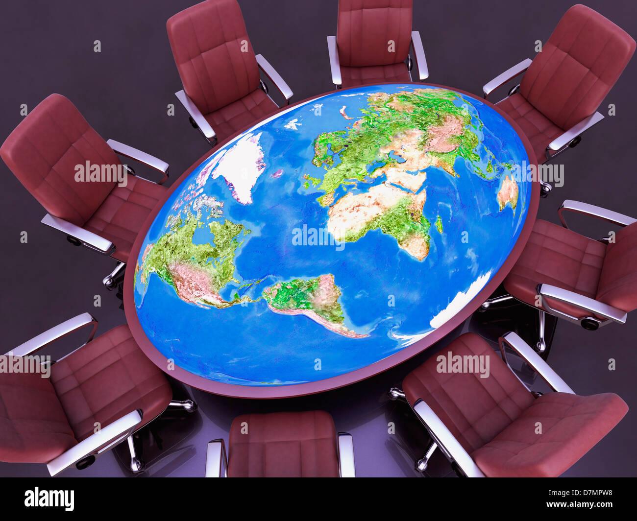 International relation, conceptual image - Stock Image
