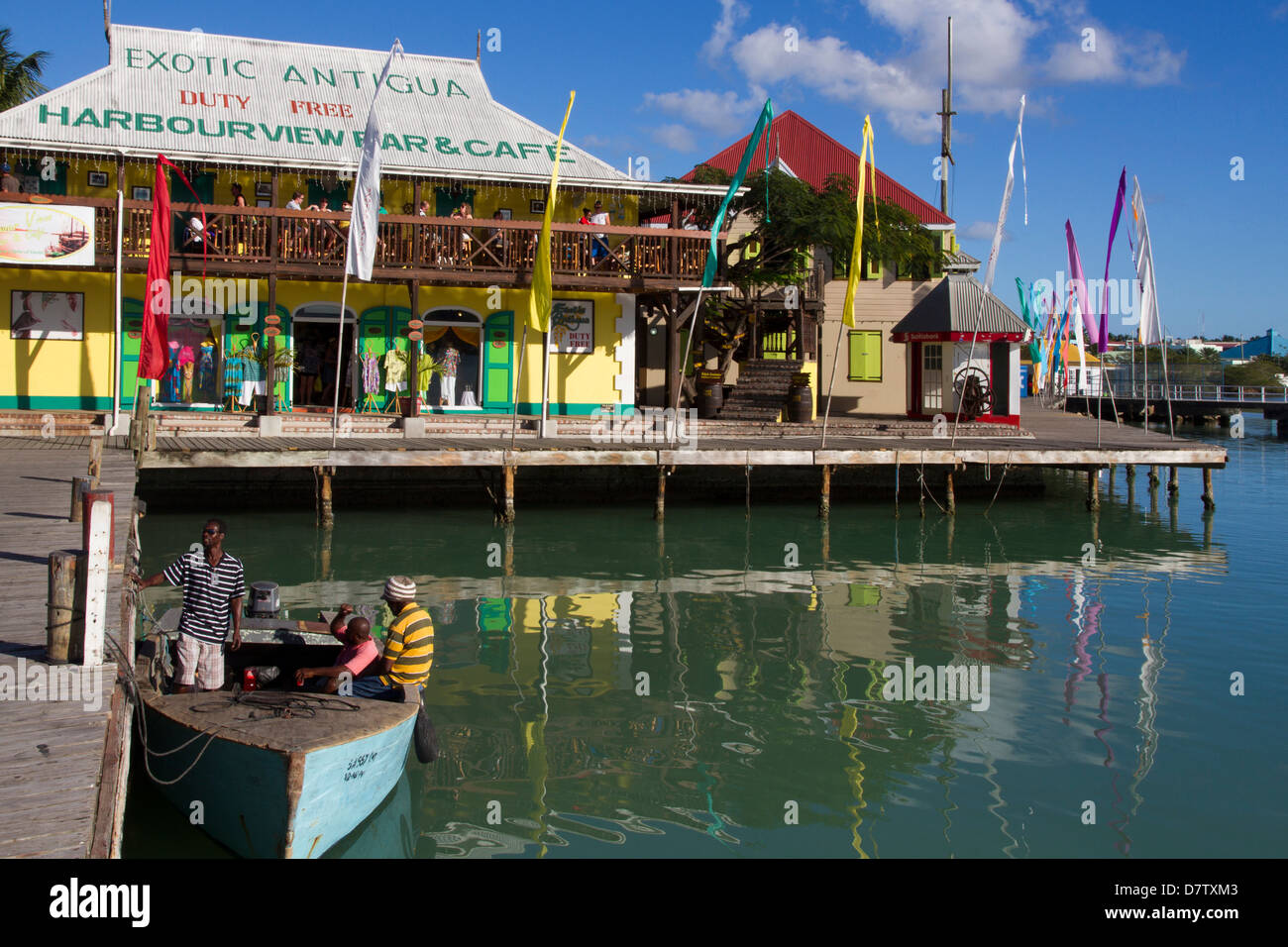 Radcliffe Quay, St. Johns, Antigua, Leeward Islands, West Indies, Caribbean - Stock Image