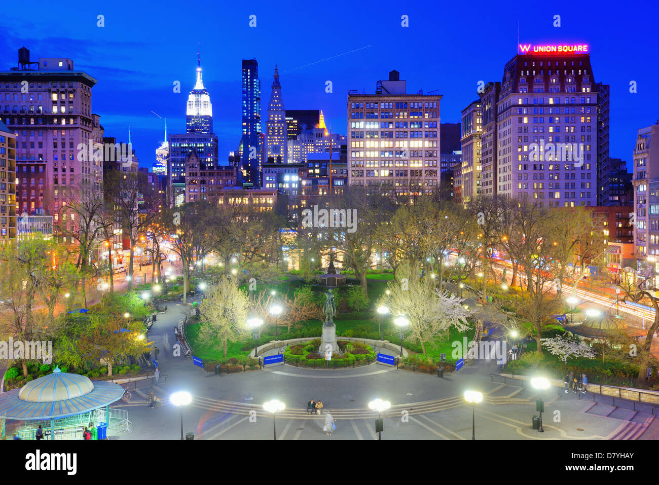 Union Square in New York City - Stock Image