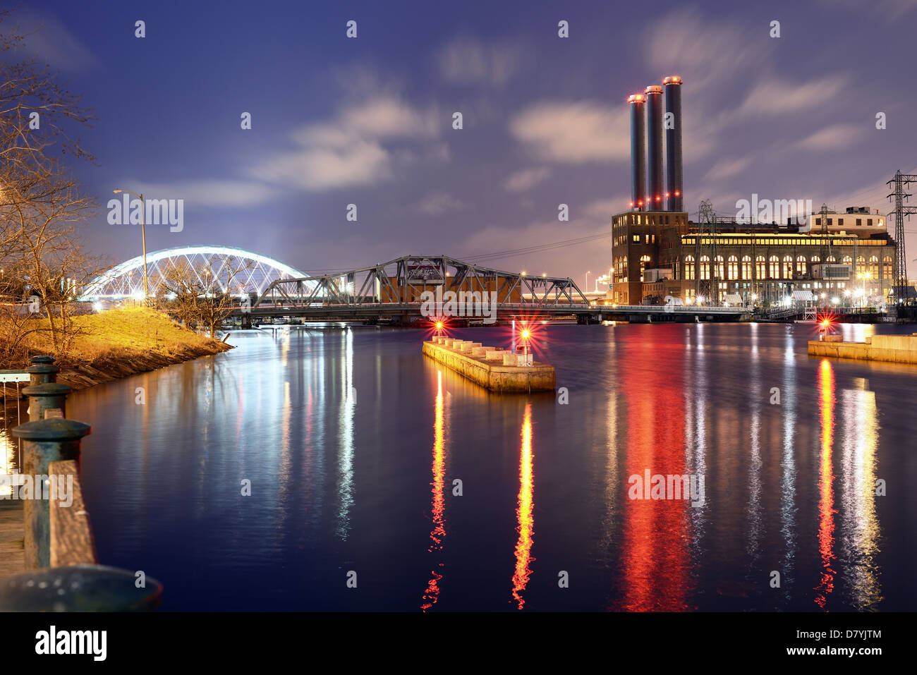 Providence River in Providence, Rhode Island - Stock Image