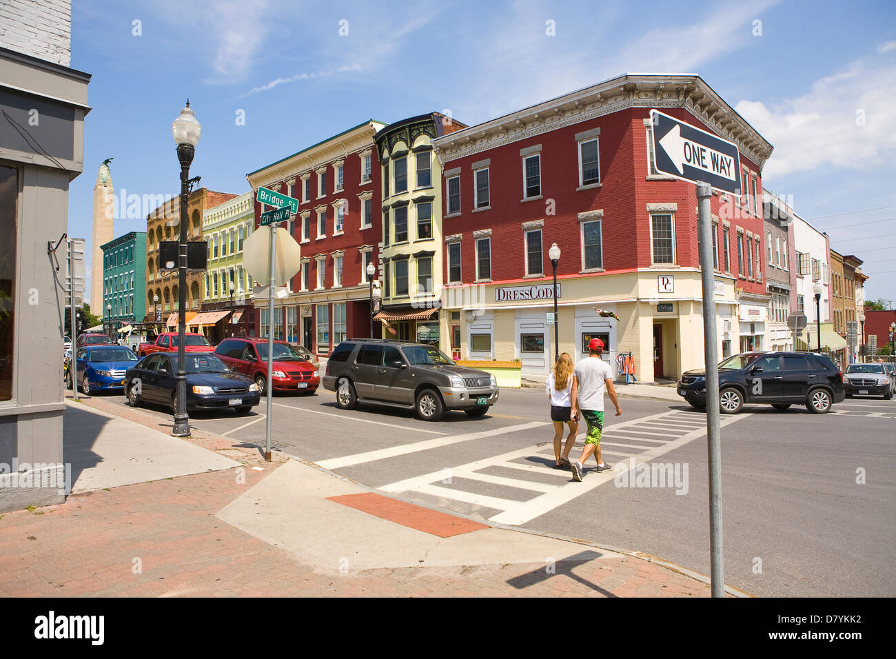Downtown Plattsburgh, New York, USA Stock Photo