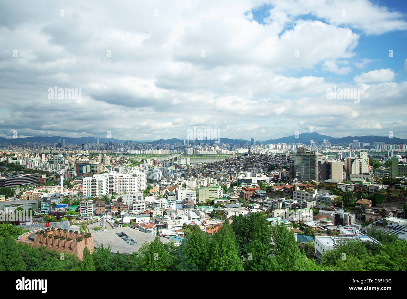central seoul city in south korea - Stock Image