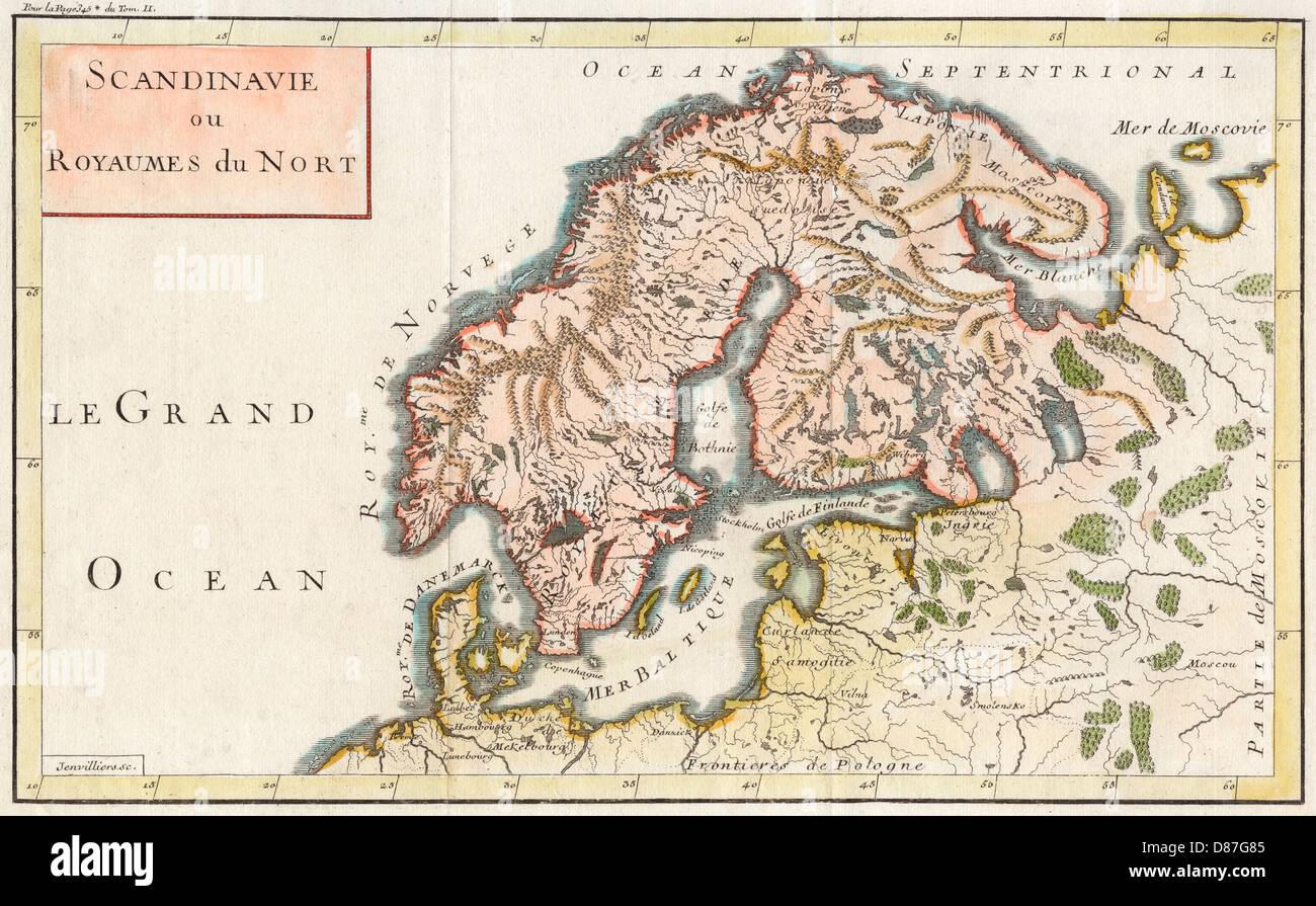 Map Europe Scandinavia Stock Photo: 56714789 - Alamy