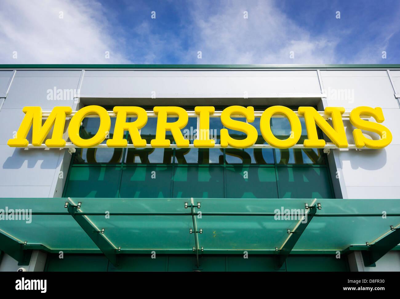 Morrisons supermarket sign / logo Stock Photo
