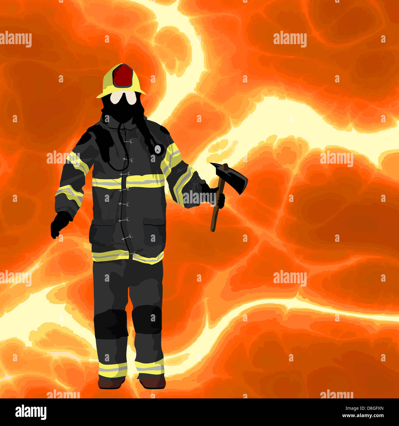 Firefighter background - Stock Image