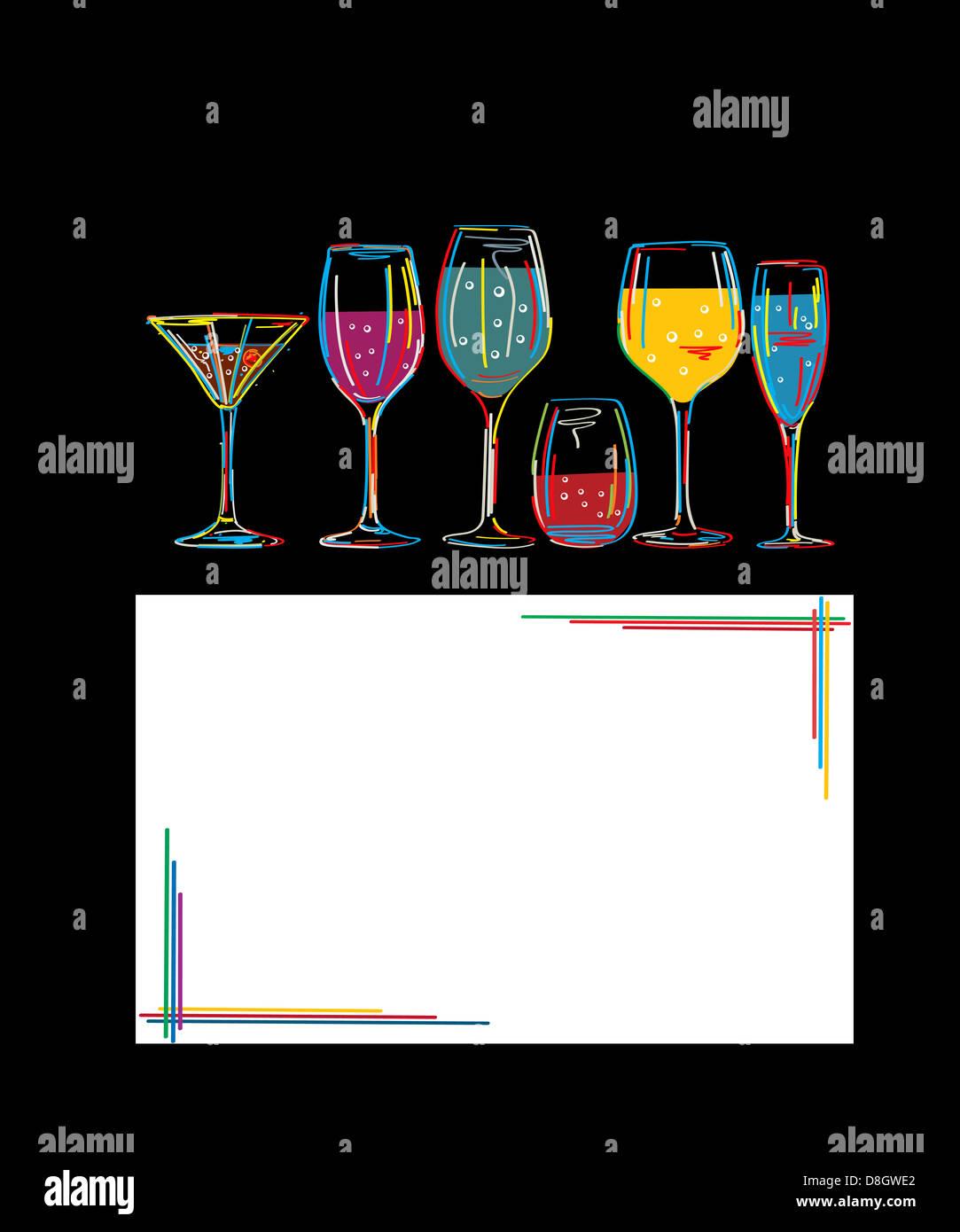 Cocktail menu card design stock photos cocktail menu for Cocktail 8 2