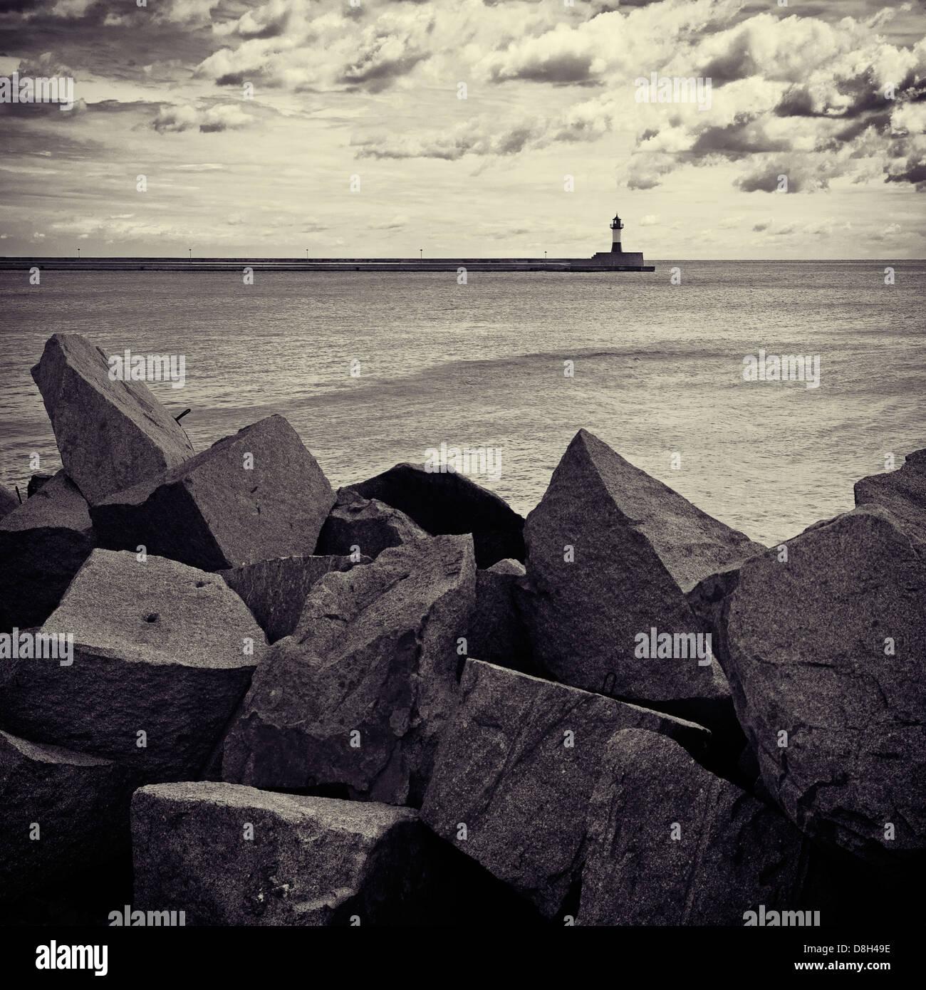 Lighthouse of Sassnitz, Rugen Island, Germany - Stock Image