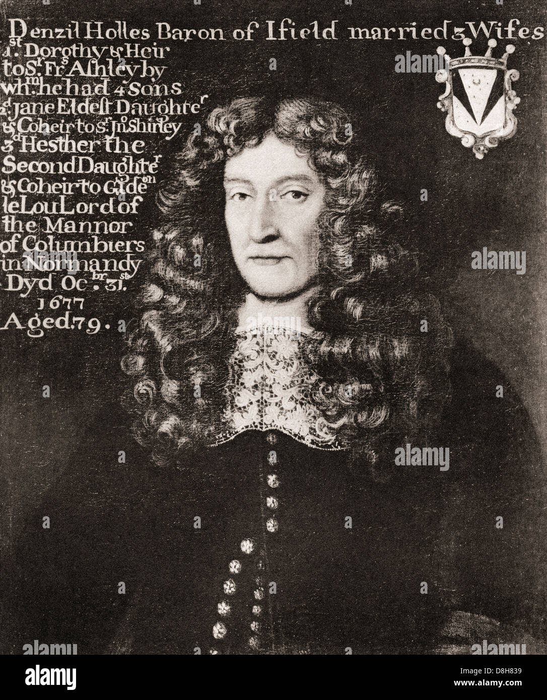 Denzil Holles, 1st Baron Holles, 1599 – 1680. English statesman and writer. - Stock Image